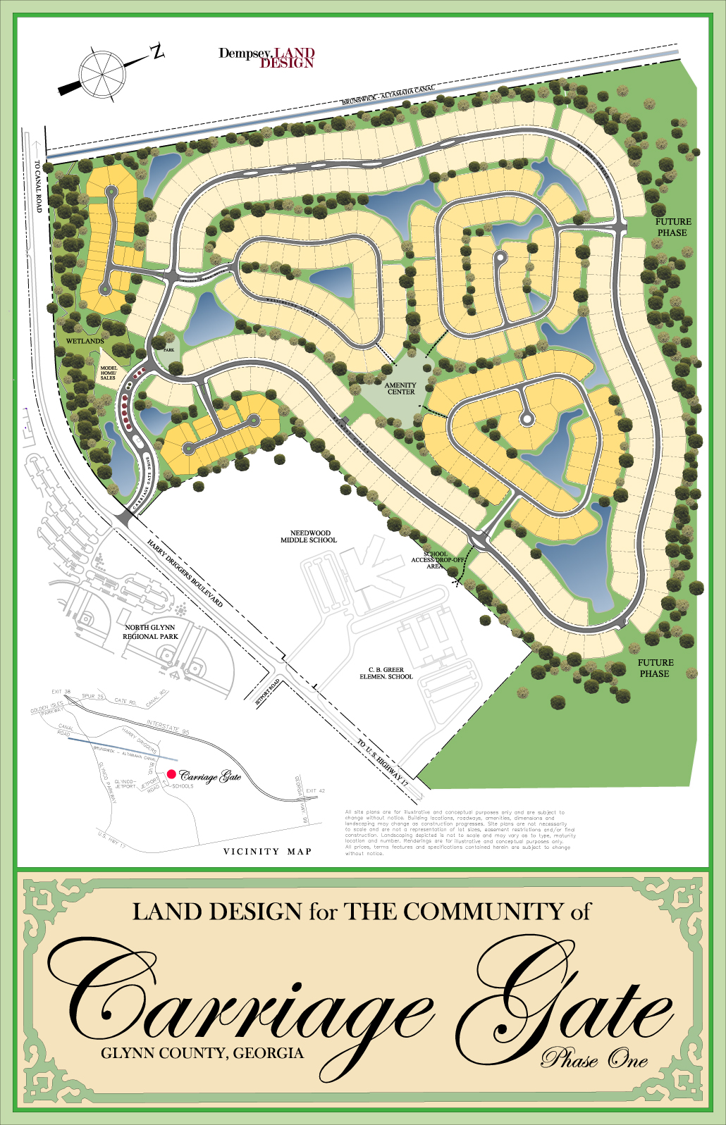 Mixed Residential Land Design for The Community of Carriage Gate, Glynn County, Georgia