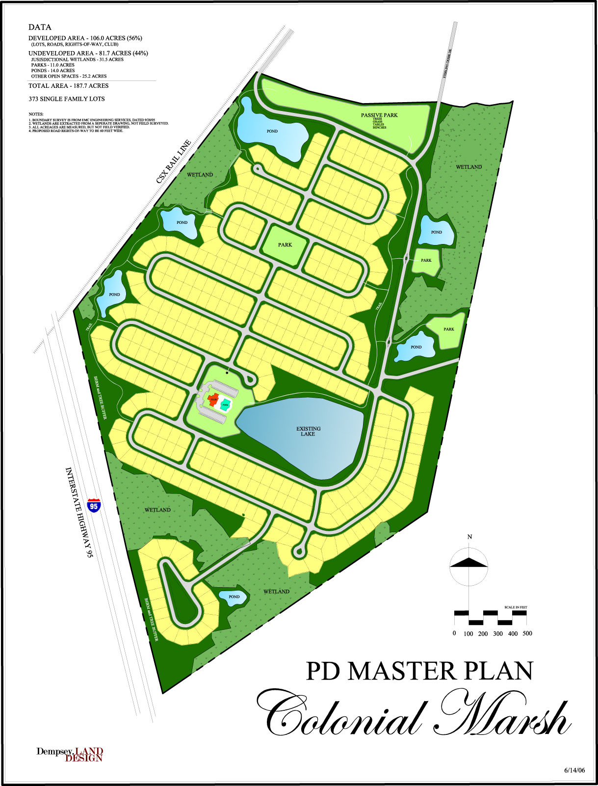 Master Plan, Colonial Marsh