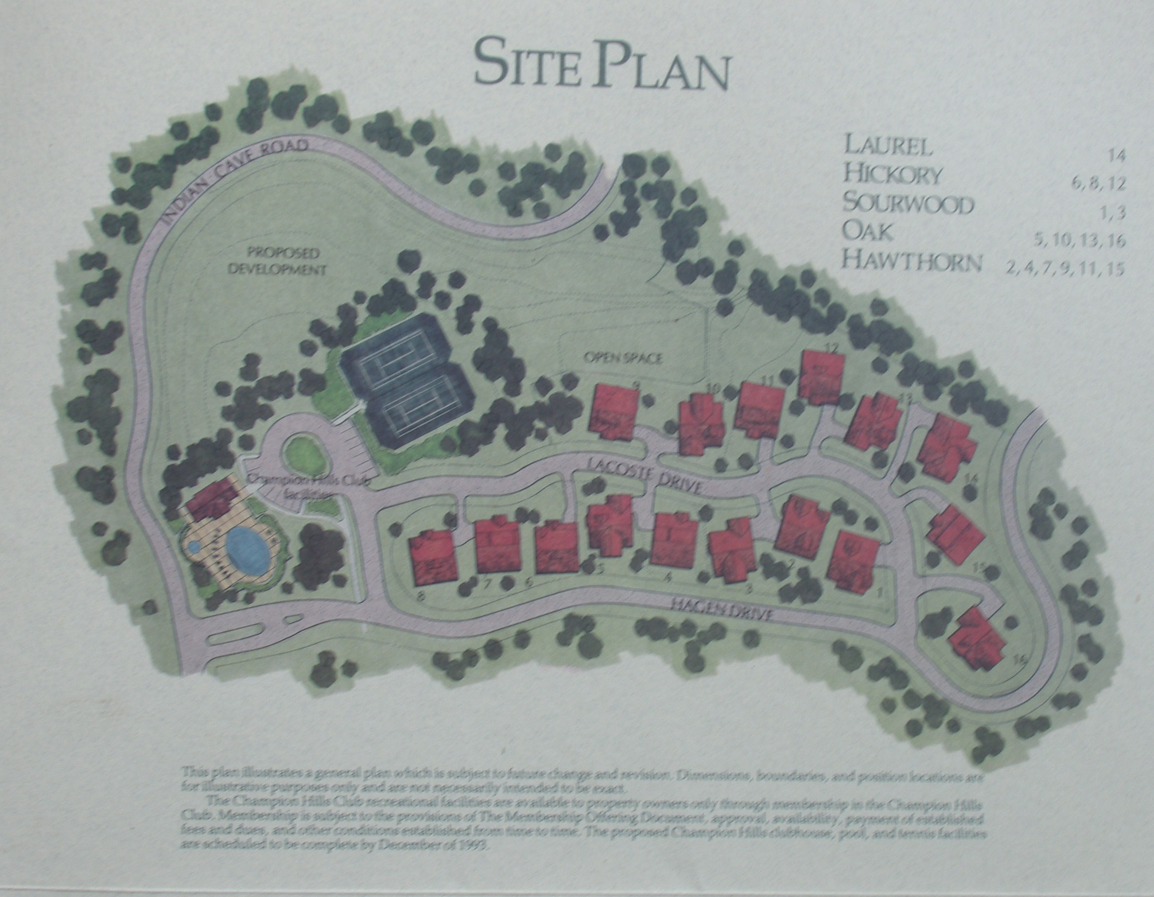 Site Plan: The Champion Hills Club