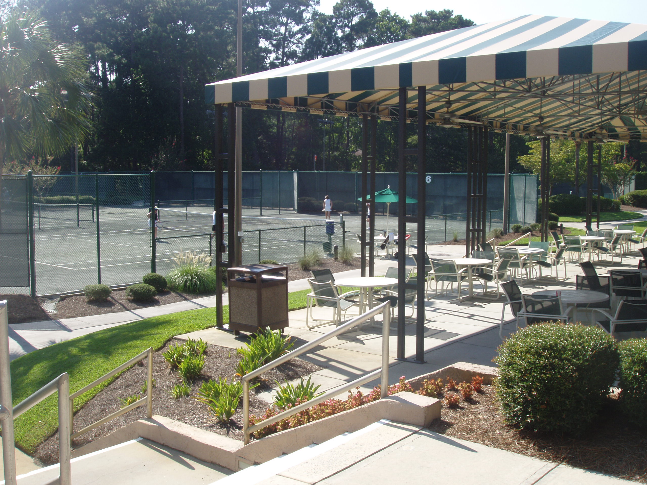 Recreational Patio & Tennis Courts