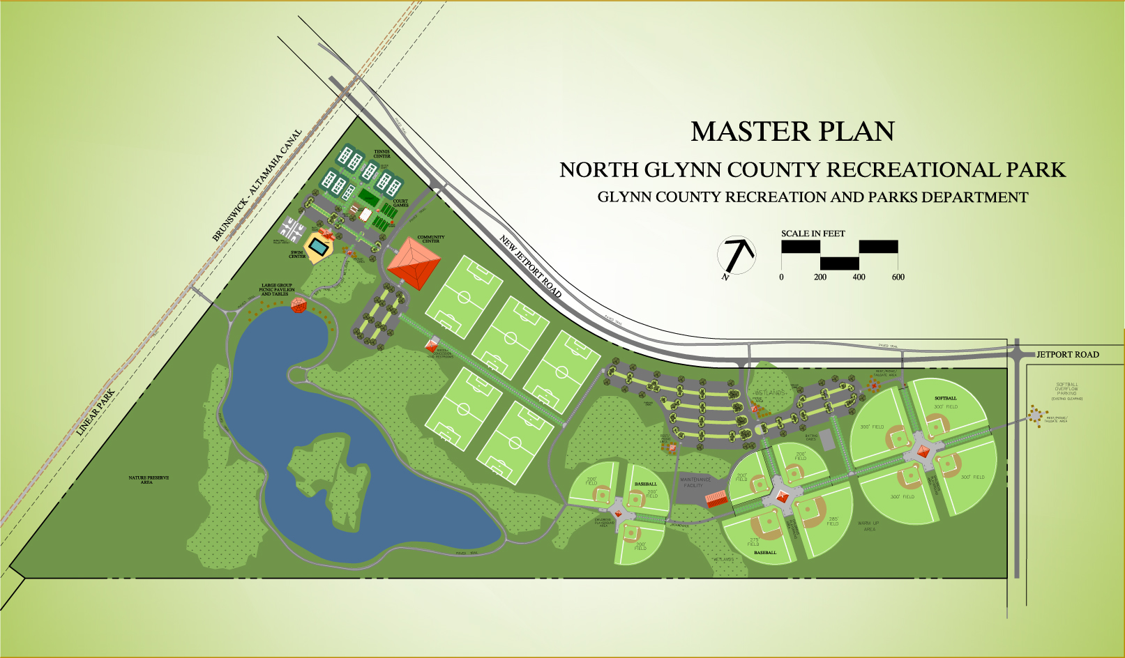 Master Plan, North Glynn County Recreational Park