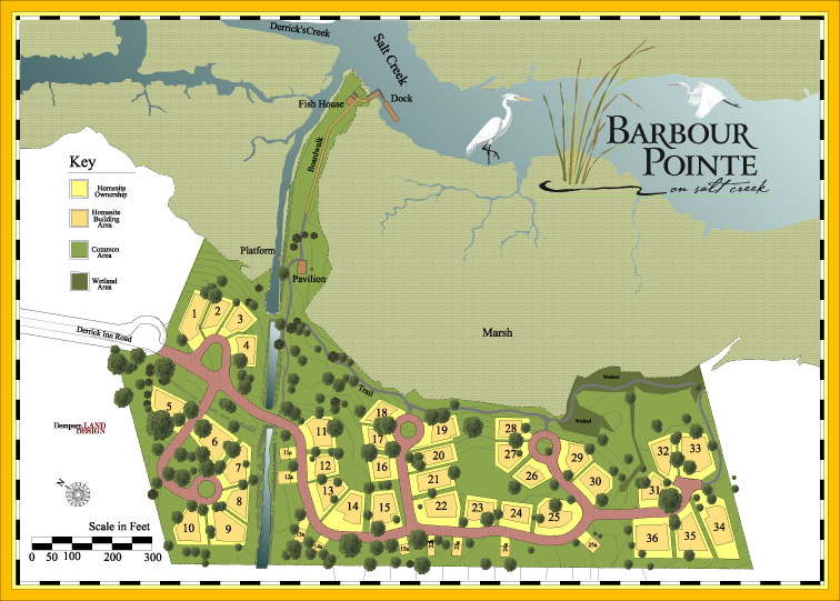 Residential Community Design, Barbour Pointe on Salt Creek