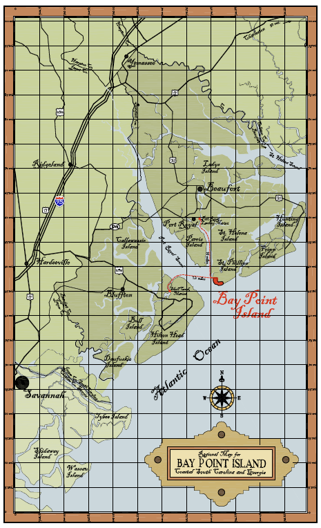 Regional Map for Coastal South Carolina & Georgia